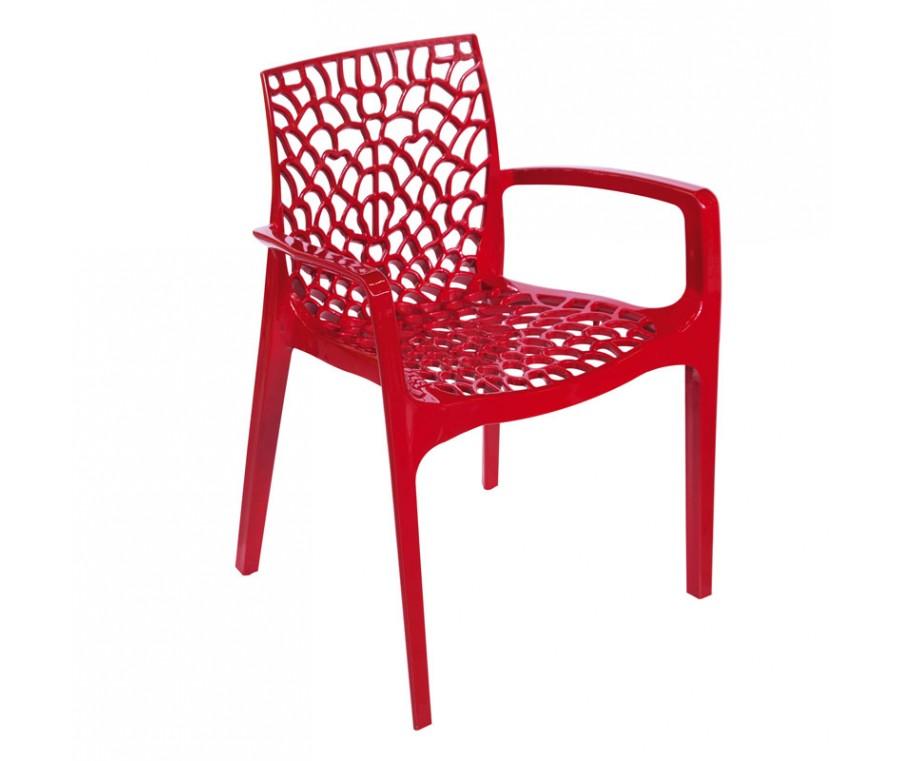 Cadeira Gruvyer Com Braço Vermelha - Moln Design Furniture