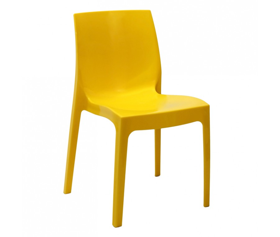 Cadeira Ice Polipropileno Amarelo - Moln Design Furniture