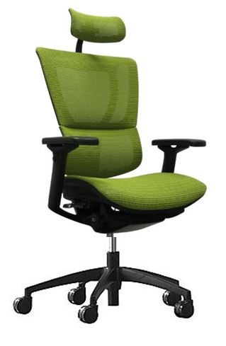 CADEIRA IOOB 1500TM MESH VERDE COM RODIZIOS - Moln Design Furniture