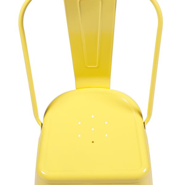 Cadeira Iron Tolix Vintage Aço Carbono Anodizado Com Pintura Epóxi Amarela - Moln Design Furniture
