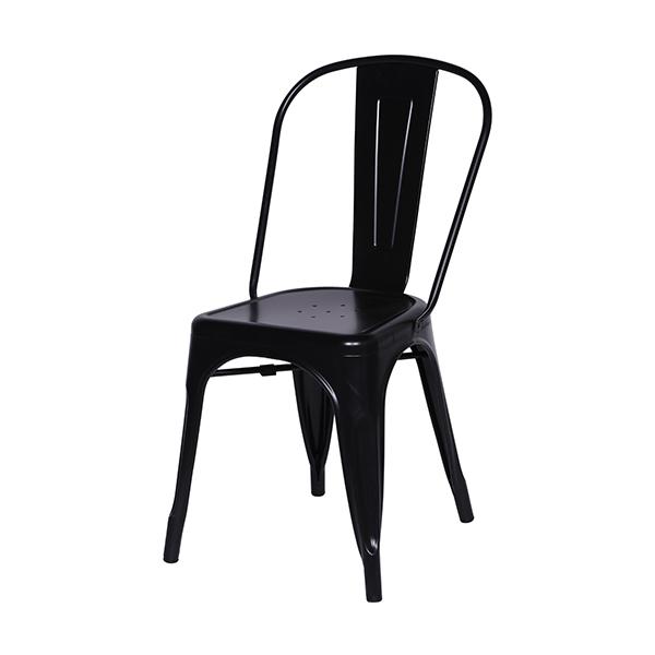Cadeira Iron Tolix Vintage Aço Carbono Anodizado Com Pintura Epóxi Preta - Moln Design Furniture