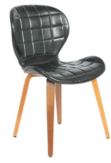 Cadeira Lucia PU Preta - Moln Design Furniture