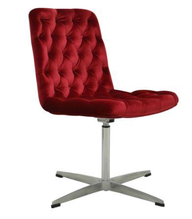 Cadeira Marta Veludo Capitonê Cereja - Moln Design Furniture