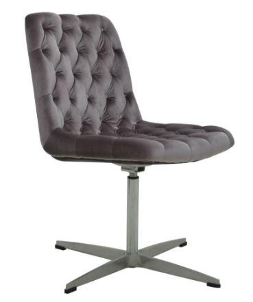 Cadeira Marta Veludo Capitonê Lilas - Moln Design Furniture