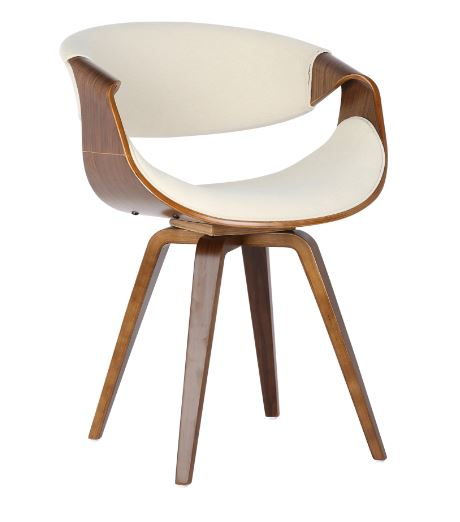 Cadeira Nicole Tecido Linho Bege - Moln Design Furniture
