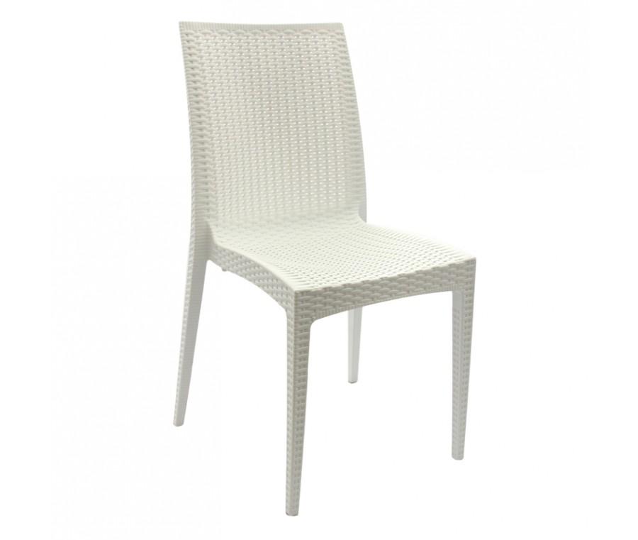 Cadeira Rattan Polipropileno Branca - Moln Design Furniture
