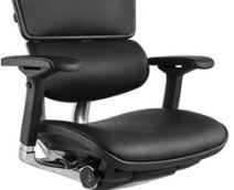 Cadeira Raynor Eurotech ErgoChair V2 2016 Plus Elite Giratoria Ergonomica Diretor Presidente em Couro Natural Preto - Moln Design Furniture