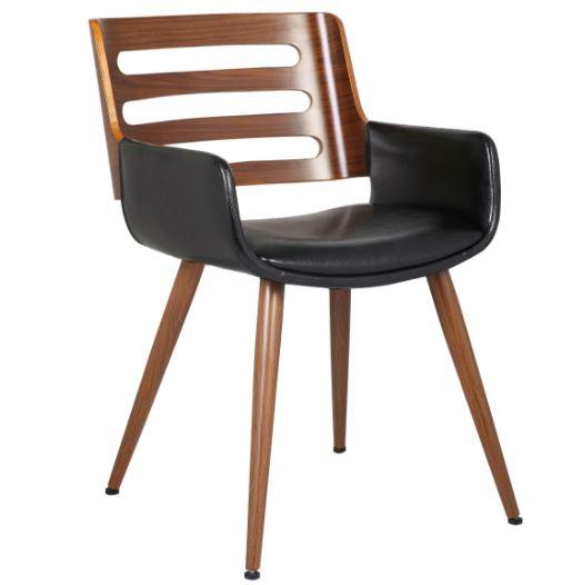 Cadeira Rute PU Preta - Moln Design Furniture