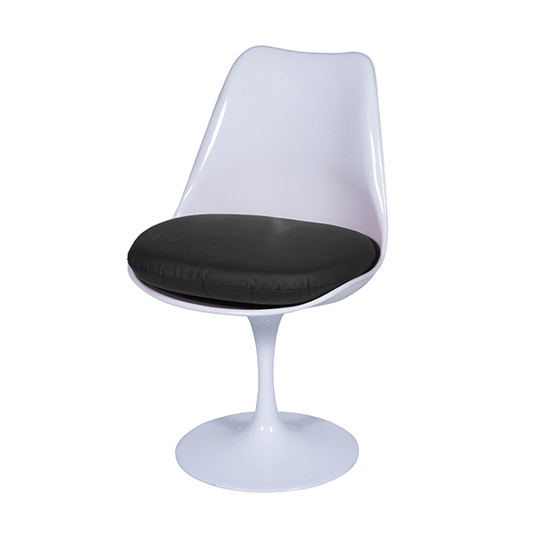 Cadeira Saarinen Branca Assento Preto - Moln Design Furniture