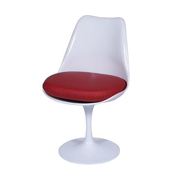 Cadeira Saarinen Branca Assento Vermelho - Moln Design Furniture