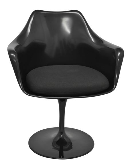 Cadeira Saarinen Com Bracos Toda Preta - Moln Design Furniture