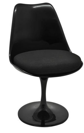 Cadeira Saarinen Toda Preta - Moln Design Furniture