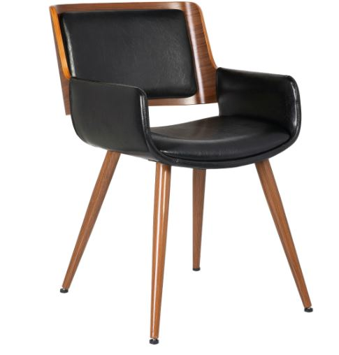 Cadeira Sonia PU Preta - Moln Design Furniture
