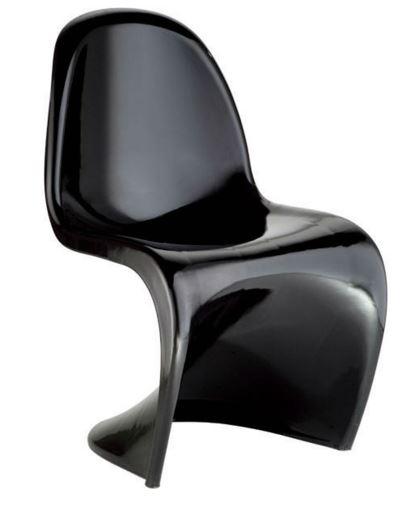 Cadeira Verner Panton Preta em ABS - Moln Design Furniture