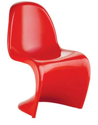 Cadeira Verner Panton Vermelha em ABS - Moln Design Furniture