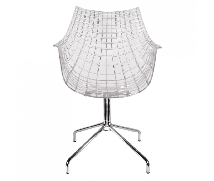 Cadeira Wave Policarbonato e base cromada  - Moln Design Furniture