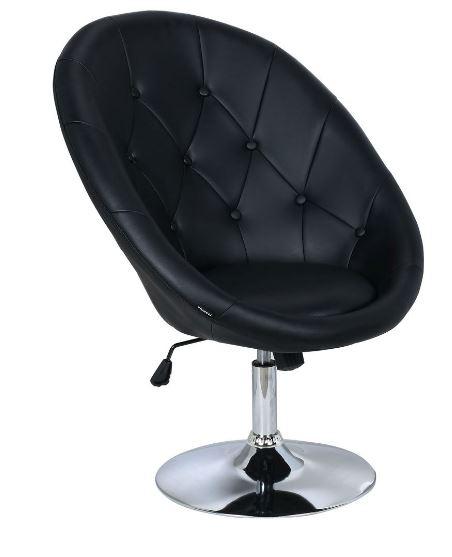 Poltrona Anne PU Capitonê Preto - Moln Design Furniture