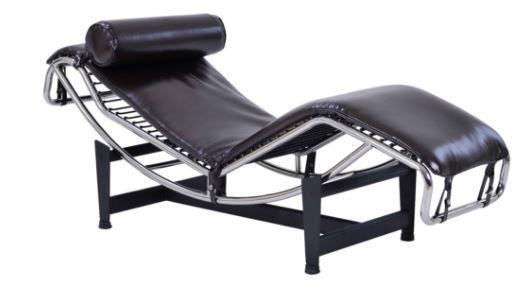 Poltrona Chaise Le Corbusier PU Marrom - Moln Design Furniture