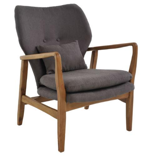 Poltrona Cibelle Linho Cinza - Moln Design Furniture