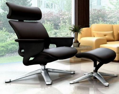 Poltrona Lounge Moln Nuvem em Couro Preto e Frame Preto - Moln Design Furniture