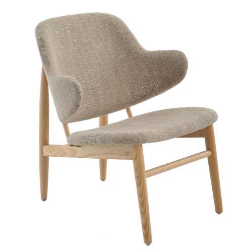 Poltrona Madalena Tecido Bege Mescla - Moln Design Furniture