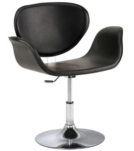 Poltrona Tulipa PU Preto - Moln Design Furniture