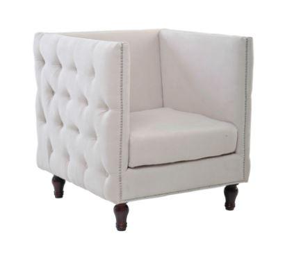 Sofa Homero Veludo Bege - Moln Design Furniture