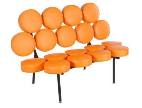 Sofa Marshmellow George Nelson Couro Laranja - Moln Design Furniture