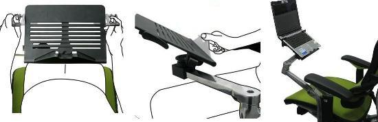 Suporte Notebook para Cadeira Ergohuman Ergochair V2 Plus Cor Preto - Moln Design Furniture