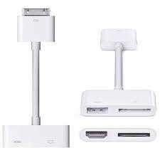ADAPTADOR DOCK CONECTOR HDMI APPLE PARA 4/4S 30 PIN ORIGINAL
