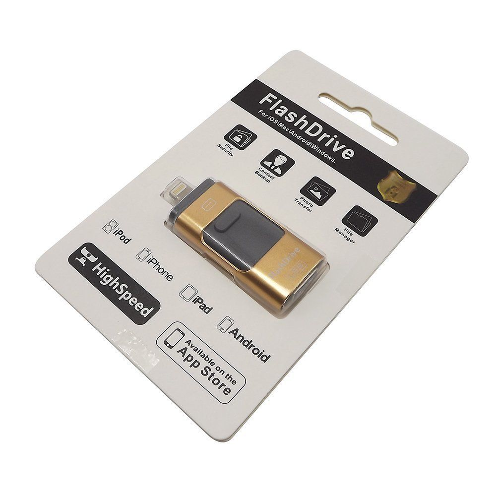 Pendrive iFlashdevice Lightning MicroUSB iPhone Android 64GB