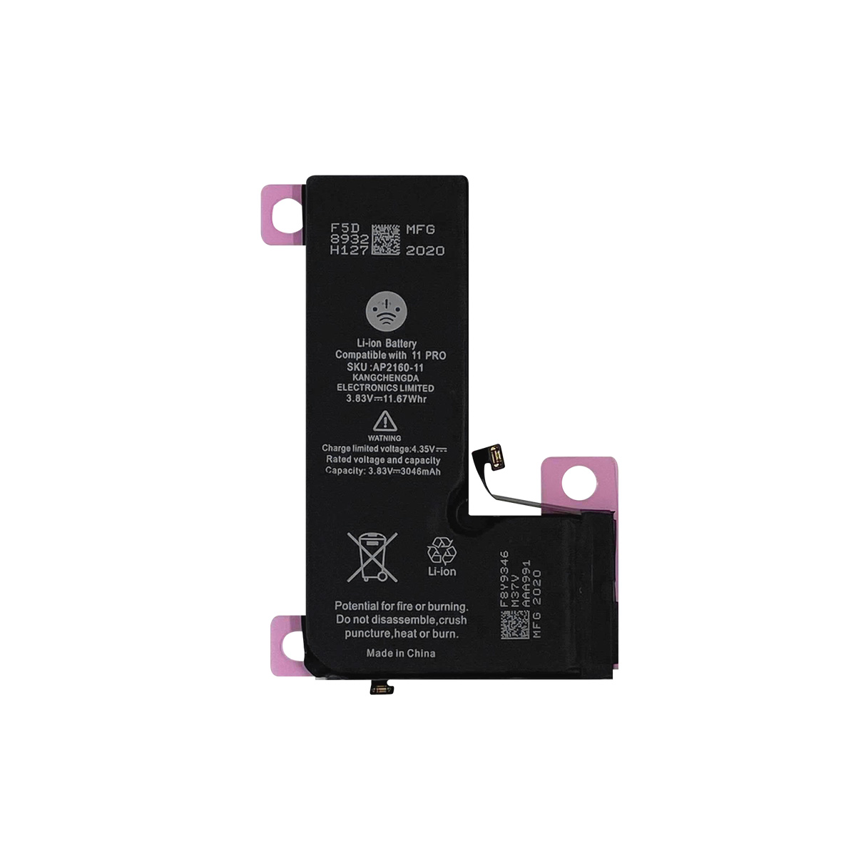 Bateria Apple iPhone 11 Pro 3046 mAh  A2215