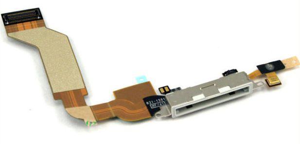 Cabo Flex Conector Dock Carga Audio Antena iPhone 4S Original