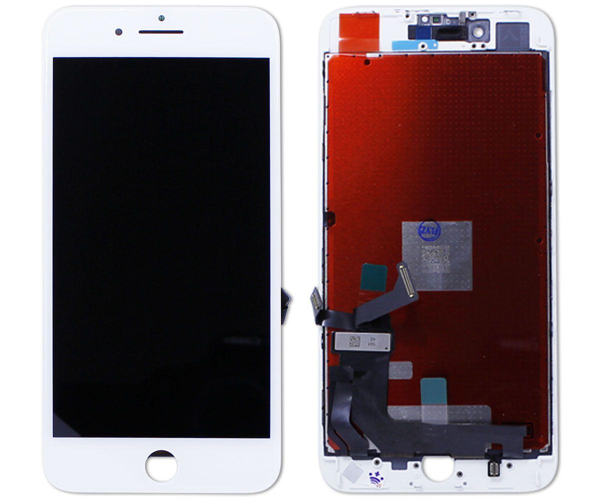 Kit Tela Display iPhone 8 Plus Standard Branco + Bateria + Capa Apple Azul Escura