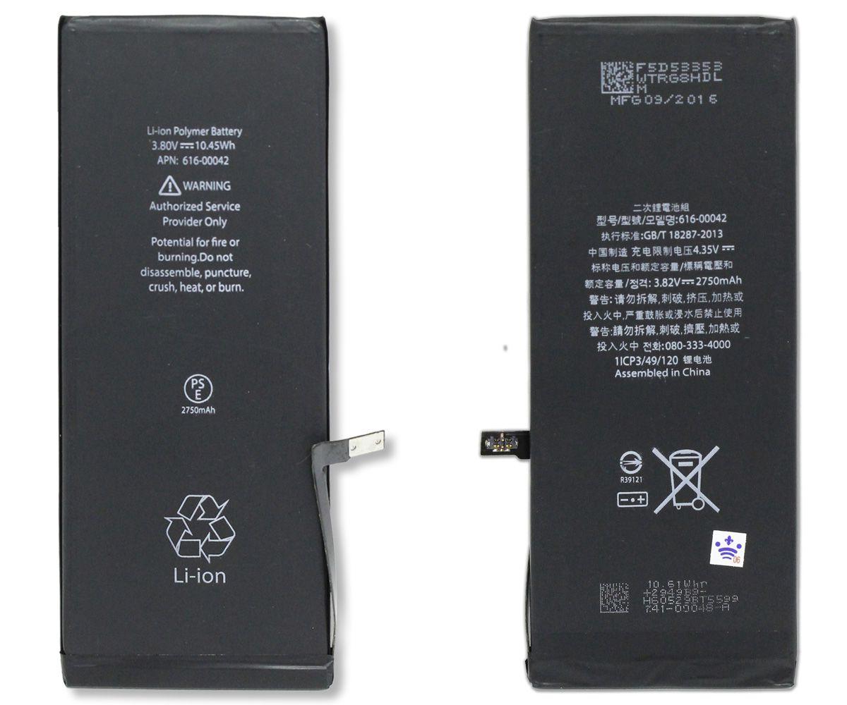Kit Tela Display iPhone 6S Plus Empório Pro Preto + Bateria + Película
