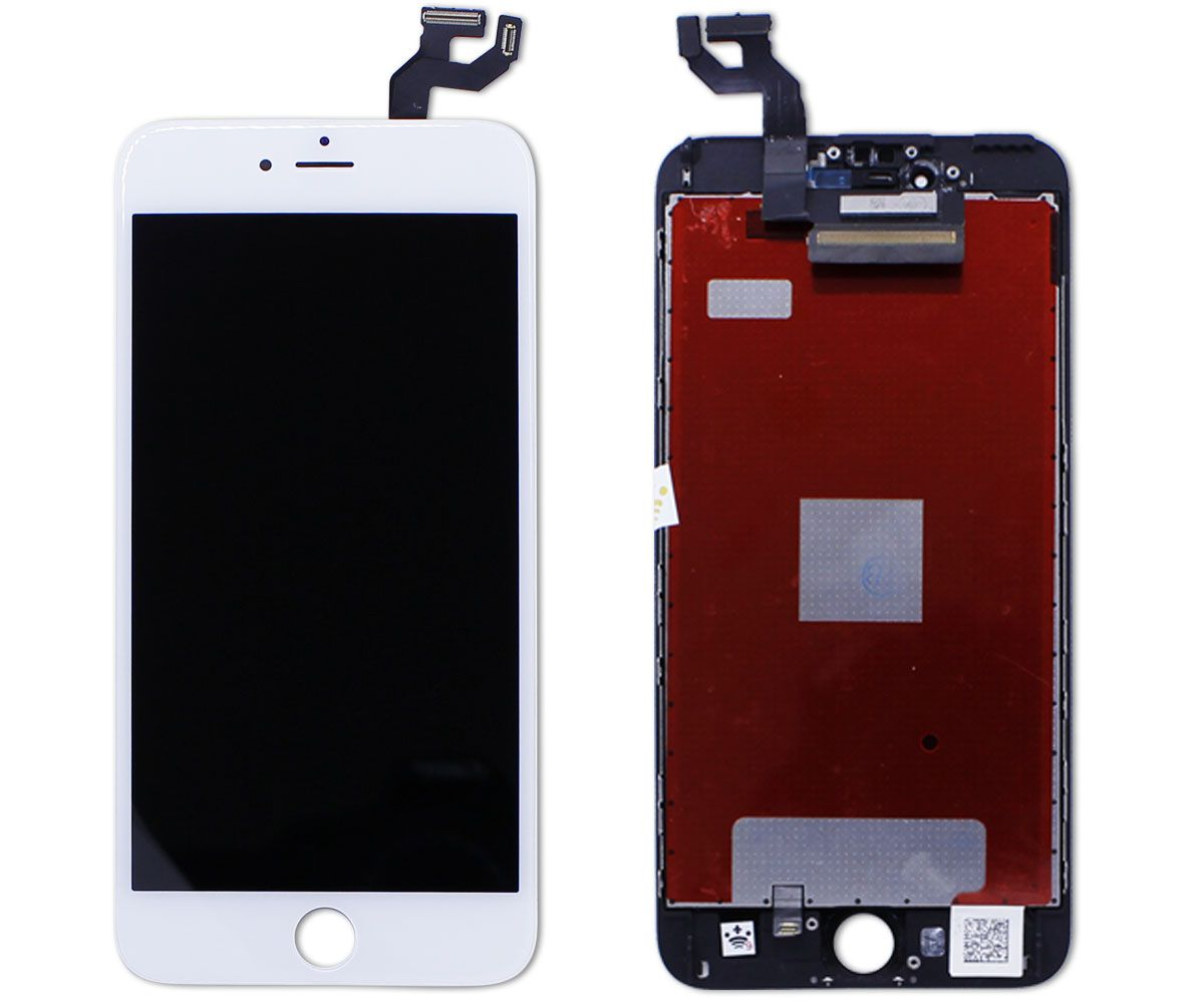 Kit Tela Display iPhone 6S Plus Standard Preto + Bateria + Película