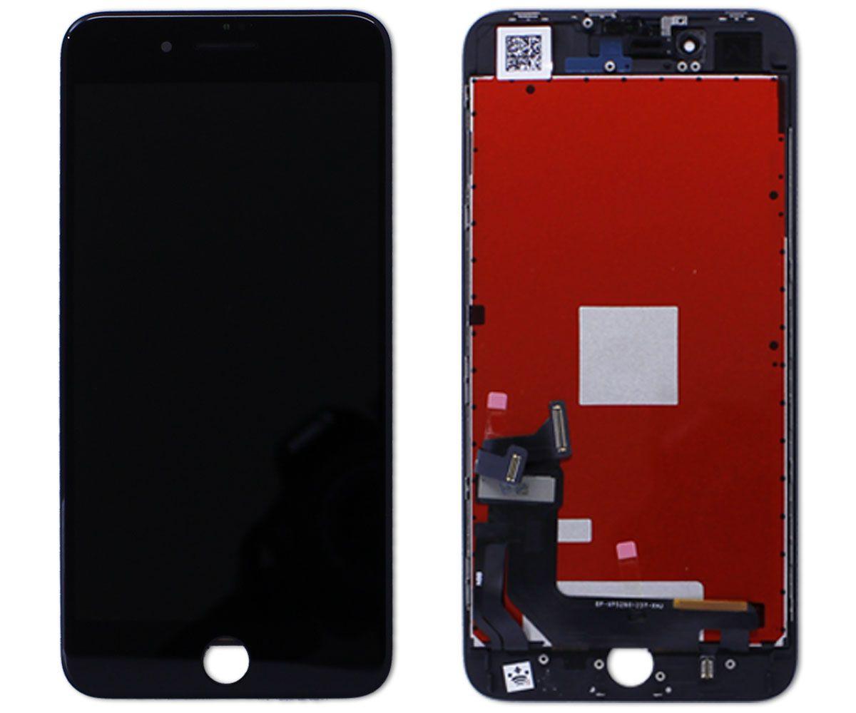 Kit Tela Display iPhone 8 Plus Premium Preto + Bateria + Capa Apple Preta