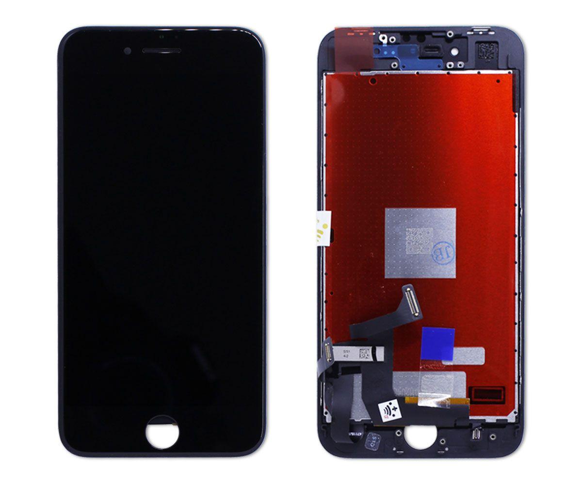 Kit Tela Display iPhone 8 Empório Pro Branco + Bateria + Capa Apple Preta