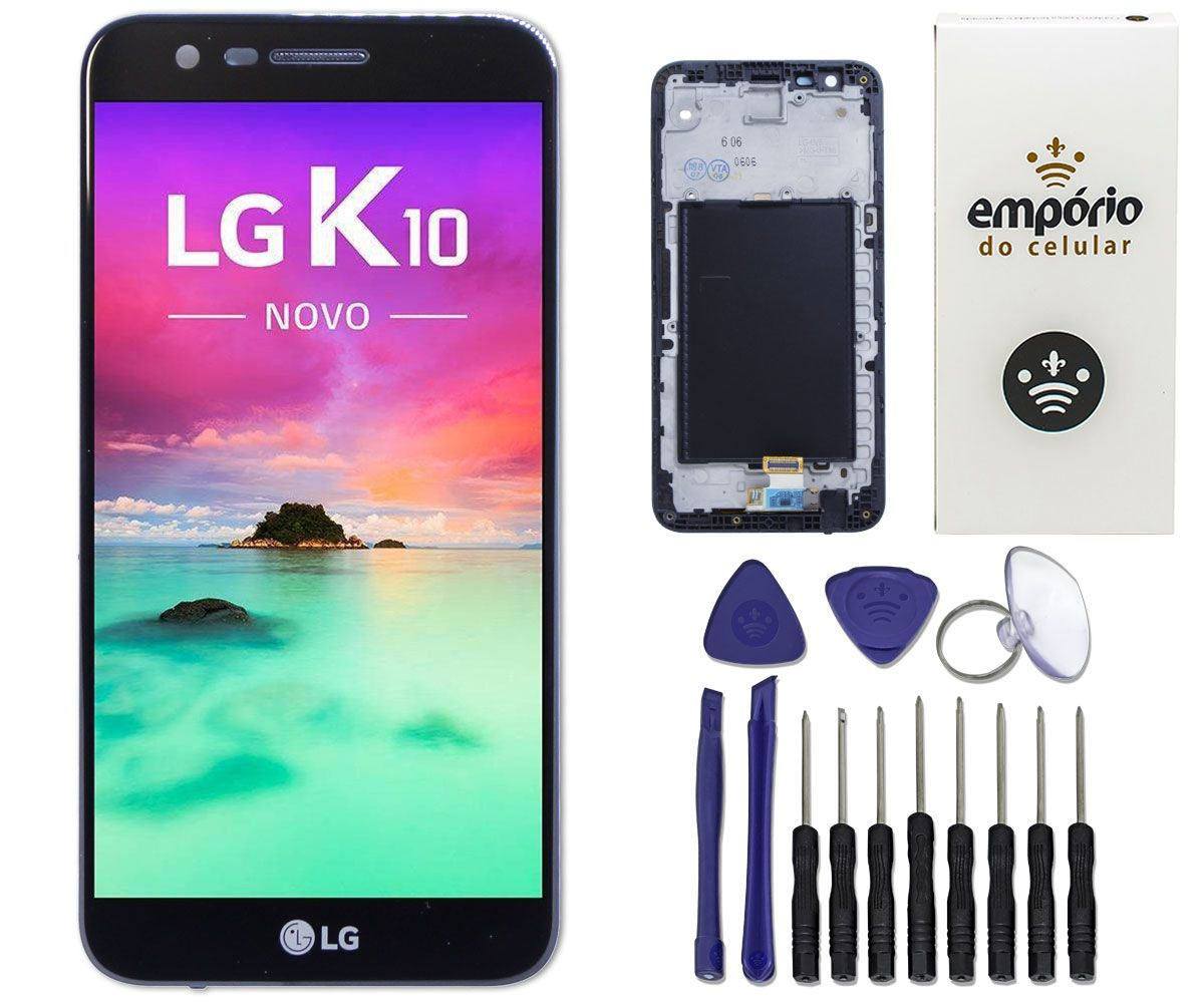 Tela Touch Screen Display LCD LG K10 Novo 2017 M250ds Original