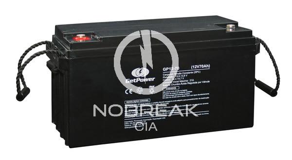 Bateria Selada VRLA 70 Ah Get Power GP12-70