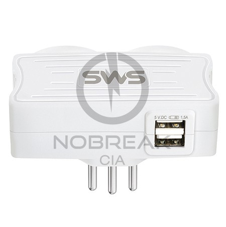 Carregadores USB - Carregador 2 USB + 2 Tomadas