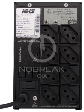 Nobreak NHS Compact Plus III 1200 VA