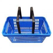 Cesta de compras p/ supermercado della plast azul ref. 1203/24