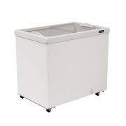 Freezer horizontal comerc. esmaltec 252lt 127v 2t vidro reto mod. af300
