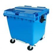 Lixeira jsn c/ rodas azul cap. 1000lt ref. x1000/ c1000