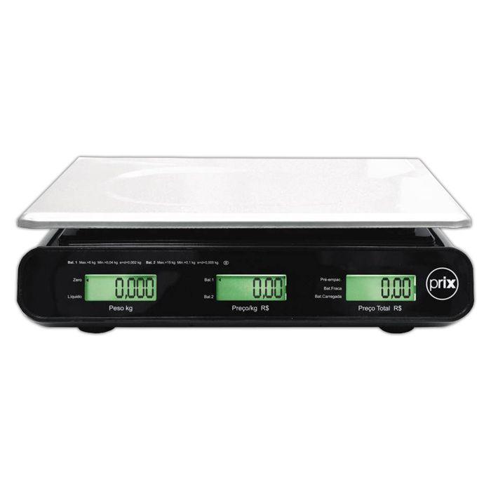 Balanca comput. 15kg com bat. 127/220v toledo preta prix-iii plus ref. p300012