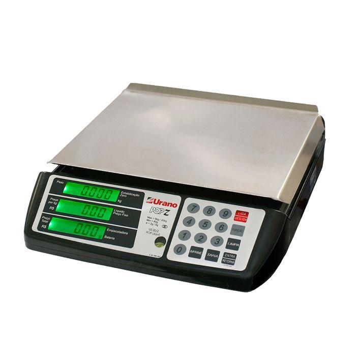 Balanca comput. 20/2kg com bat. e back light preta urano pop-z 22.31.100.0535