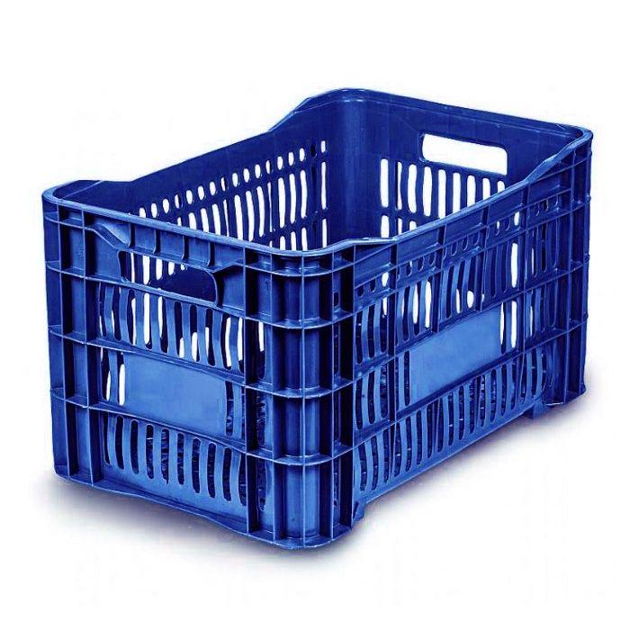 Caixa 46lt p/ uso geral  azul a31,5 x l36 x c55,6 cm mercoplasa ms-10/ 11/ 60