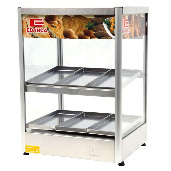 Estufa vertical reta c/ display 6 bandejas 127v edanca mod. erevp-6
