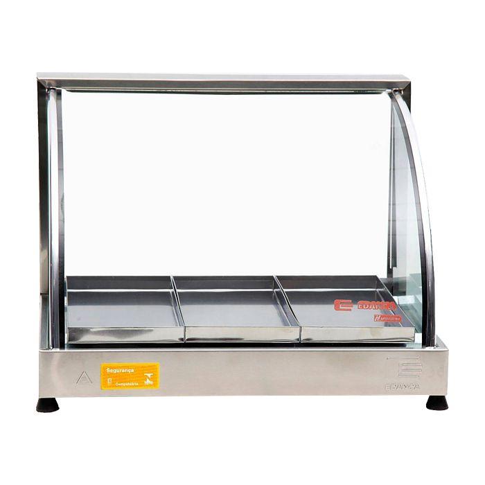 Estufa vidro curvo 3 bandejas serie prata 127v edanca mod. ecp-3 ref. 10101100